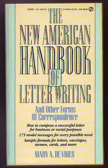 Image for The New American Handbook of Letter Writing, And Other Forms of Correspondence
