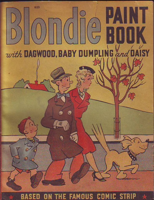Image for BLONDIE PAINT BOOK with Dagwood, Baby Dumpling and Daisy