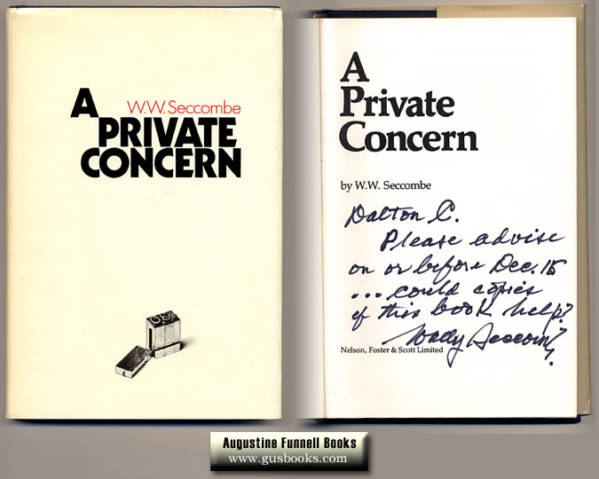 Image for A Private Concern (signed)