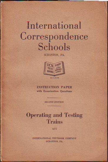 Image for OPERATING AND TESTING TRAINS, Instruction Paper with Examination Questions