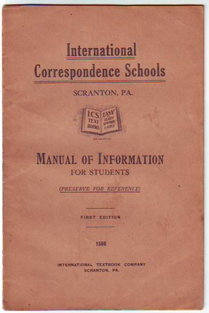 Image for Manual of Information for Students