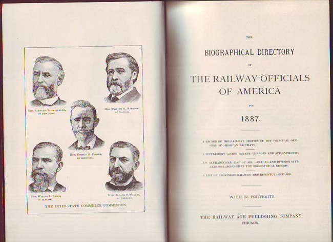 Image for The Biographical Directory of the Railway Officials of America for 1887