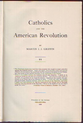Image for Catholics and the American Revolution, Volume II/Vol. 2