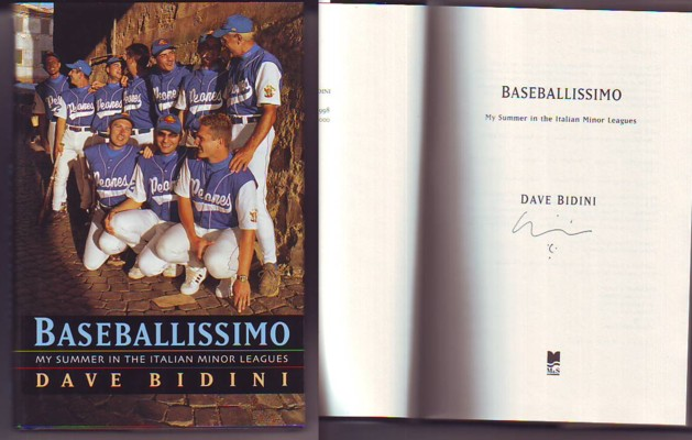 Image for BASEBALLISSIMO, My Summer in the Italian Minor Leagues (signed)