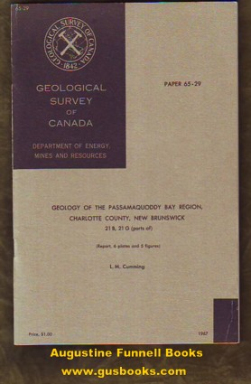 Image for Geology of the Passamaquoddy Bay Region, Charlotte County, New Brunswick