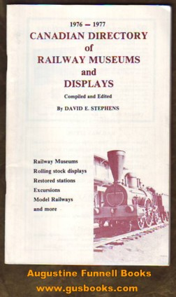 Image for 1976 - 1977 Canadian Directory of Railway Museums and Displays