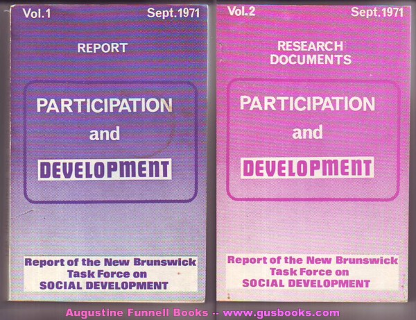Image for Participation and Development, Vol. 1, Report, & Vol. 2, Research Documents, September/Sept. 1971