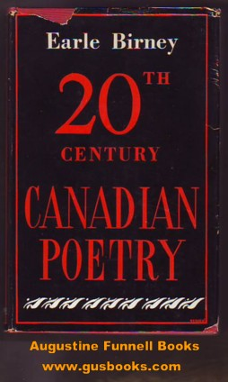 Image for 20th CENTURY CANADIAN POETRY, An Anthology with introduction and notes