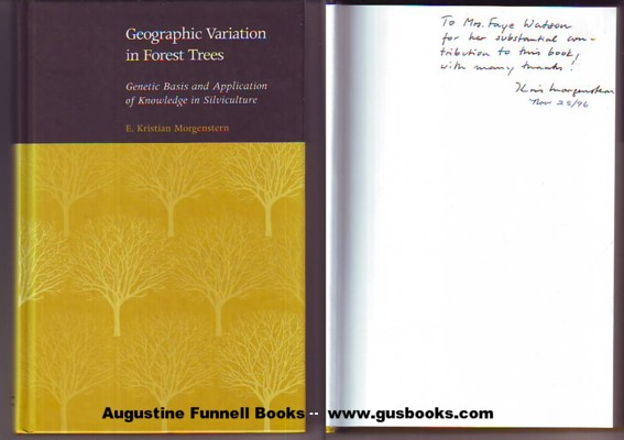Image for GEOGRAPHIC VARIATION IN FOREST TREES, Genetic Basis and Application of Knowledge in Silviculture (signed)