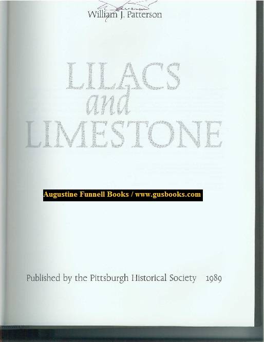 Image for LILACS AND LIMESTONE, An Illustrated History of Pittsburgh Township, 1787-1987 (signed)