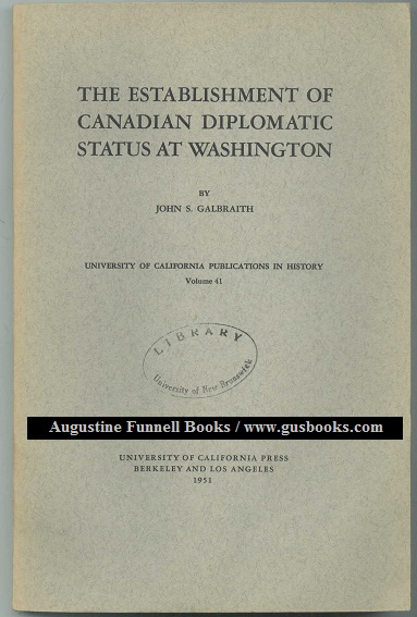 Image for The Establishment of Canadian Diplomatic Status at Washington