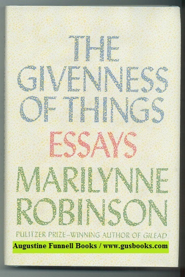 Image for THE GIVENNESS OF THINGS, Essays