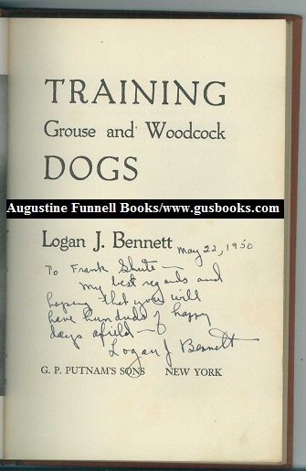 Image for Training Grouse and Woodcock Dogs (signed)