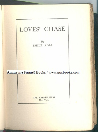 Image for Loves' (Love's) Chase