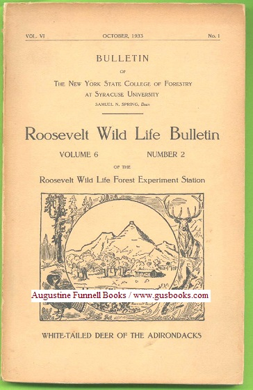 Image for ROOSEVELT WILD LIFE BULLETIN, Volume 6 Number 2,  White-tailed Deer of the Adirondacks