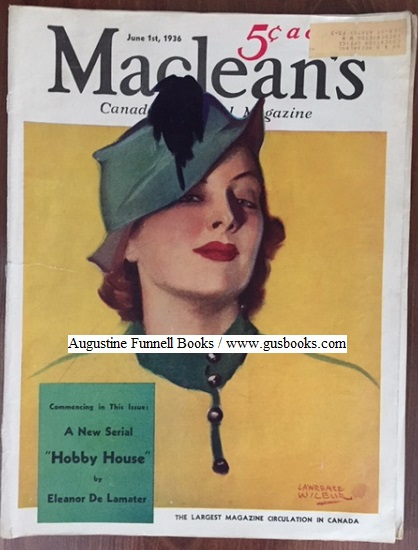Image for MacLEAN'S, Canada's National Magazine, Vol. 49 No, 11, June 1, 1936