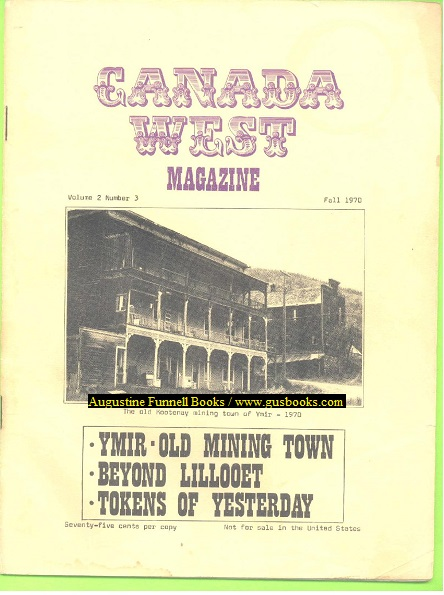 Image for Canada West Magazine, Volume 2 Number 3, Fall 1970