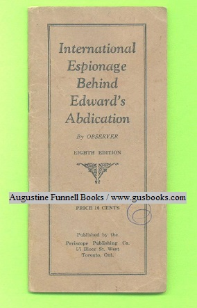 Image for International Espionage Behind Edward's Abdication