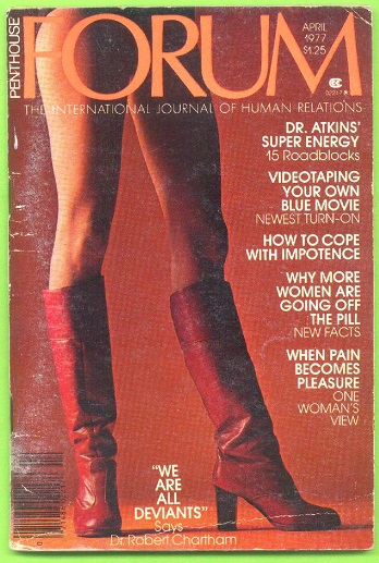 Image for Penthouse FORUM, The International Journal of Human Relations, 4 issues (April, September, October, & November 1977)