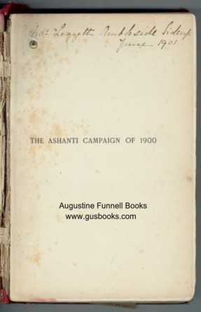 Image for The Ashanti Campaign of 1900