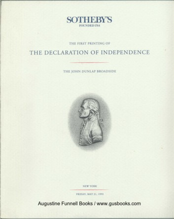 Image for The First Printing of THE DECLARATION OF INDEPENDENCE, The John Dunlap Broadside