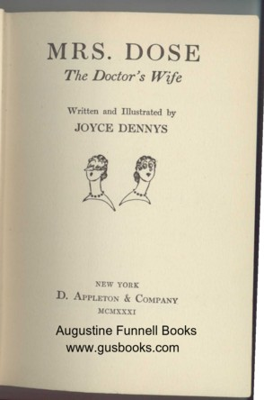 Image for MRS. DOSE, The Doctor's Wife